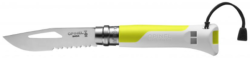 COUTEAU OPINEL OUTDOOR JAUNE FLUO